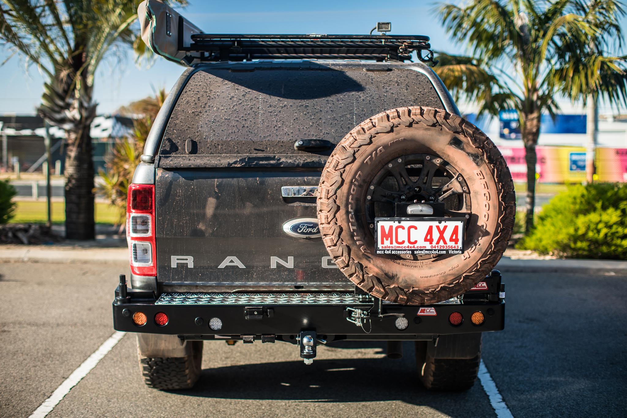 Ford Ranger MK1 MK2 Mk3 - MCC022-02 Rear Carrier Bar-Single wheel carrier